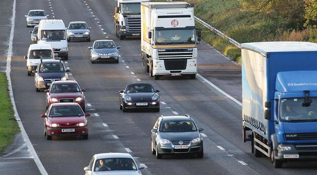 A lorry driver has been jailed after he drove the wrong way down the motorway
