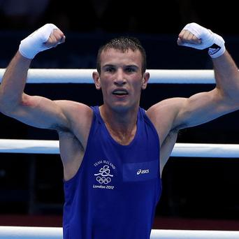 John Joe Nevin celebrates toppling the top seed and reigning world champion