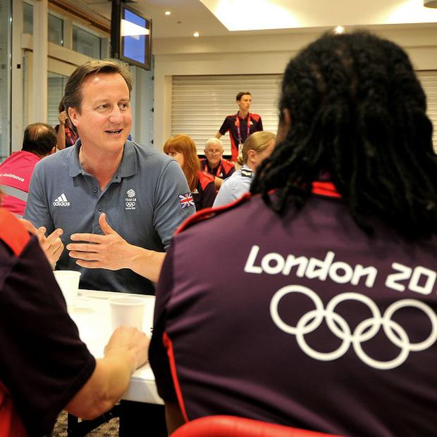 Prime Minister David Cameron said there is 'a direct link between elite success and participation in sport'