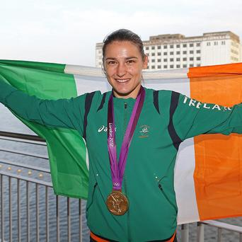Katie Taylor, pictured, led Ireland's boxers to four podium finishes at the Olympics