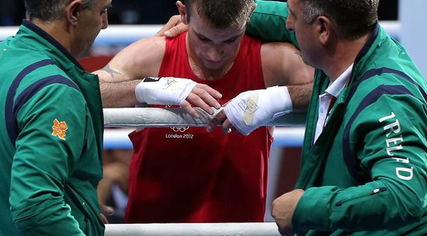 John Joe Nevin competed in the men's boxing bantam 56kg final at the Olympic Games