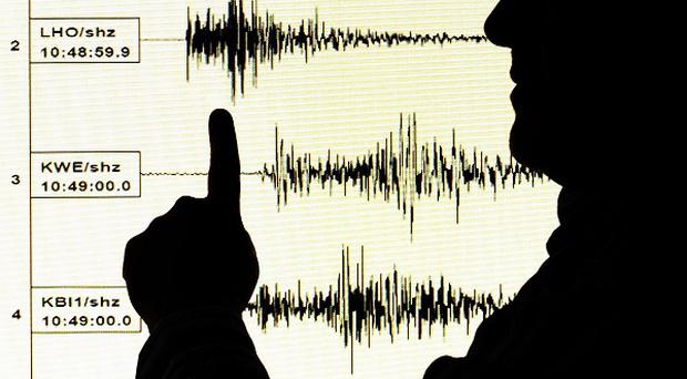 An earthquake was centred in the Pacific Ocean 100 miles east of Poronaysk, Russia