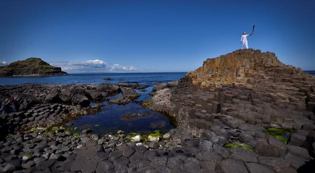 Day 17 of the Olympic Torch Relay at The Giants Causeway