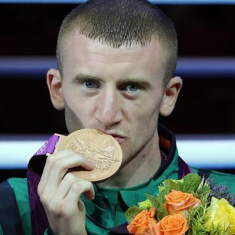 Paddy Barnes poses with his bronze medal