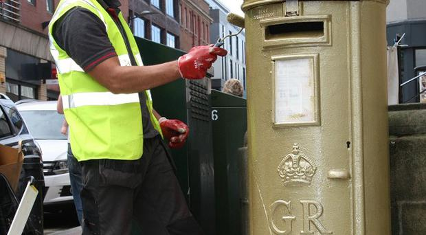 Post boxes will be painted gold to celebrate British gold medal winners at the Paralympic Games