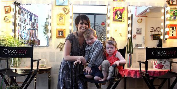 Ciara Daly and children Jay and Darcy