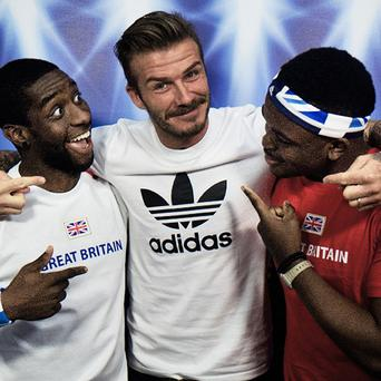 He's everywhere: David Beckham surprises two Team GB fans