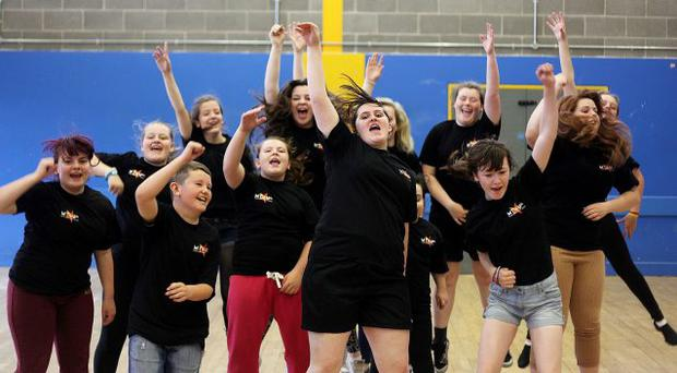 Our House, a theatrical performance, is rehearsed by children from north Belfast communities at the New Lodge Youth Centre