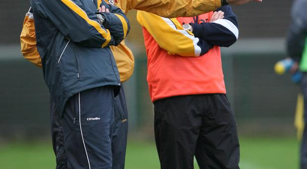 Gearoid Adams (left) and Liam Bradley (centre) have built up a strong backroom team along with Andy Ward and Paul McFlynn