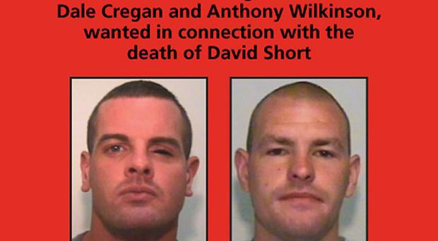 A reward has been offered for information leading to the arrests of Dale Cregan, left, and Anthony Wilkinson (GMP/PA)