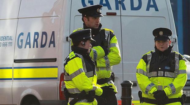 Gardai are investigating the armed robbbery of two security guards at the Rathfarnham shopping centre in south Dublin