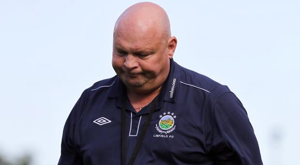 Linfield boss David Jeffrey after his side drew a blank against Coleraine