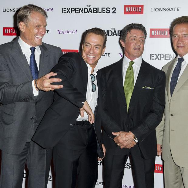 Sylvester Stallone's Expendables sequel is number one across the pond