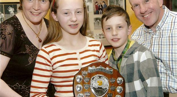 Accident victim Hannah Wiley with her mother Ethna, brother Aaron and father Edmund
