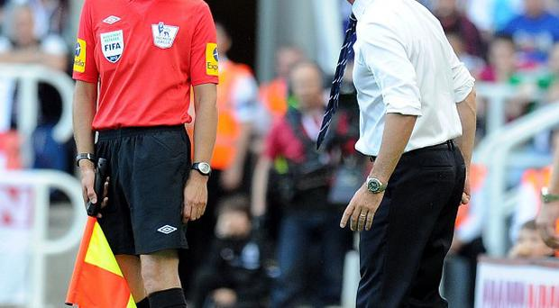 Alan Pardew, right, is facing a misconduct charge