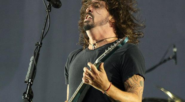 The Foo Fighters performing at Tennants Vital in Boucher playing fields