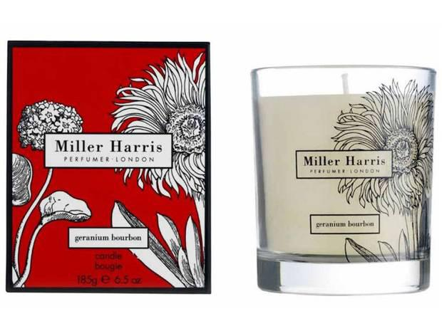 <b>1. Miller Harris</b> £36, in Geranium bourbon, millerharris.com The floral Geranium Bourbon smells like a summer garden after a shower, with notes of Turkish rose, spicy vanilla and patchouli.