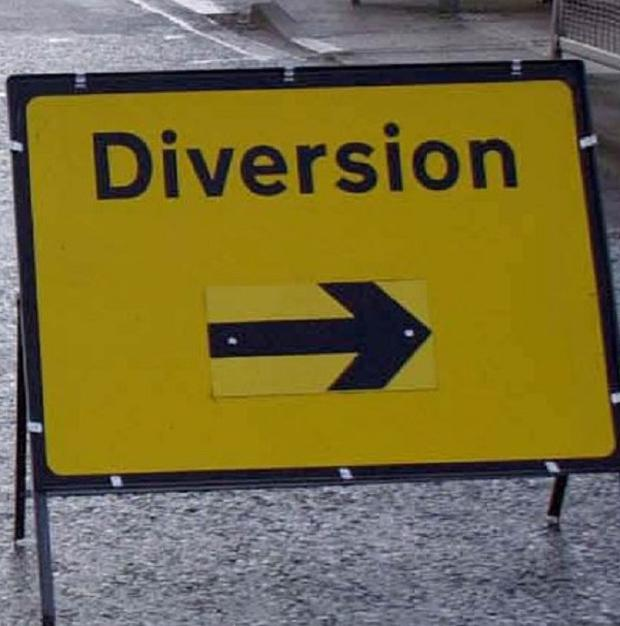 A diversion route will be signposted when maintenance work takes place on the A1 between Dromore and Banbridge, Co Down