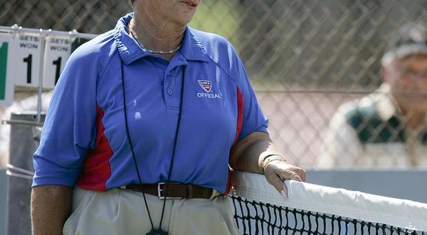 Top US tennis umpire Lois Goodman, accused of beating her husband to death with a coffee mug (AP)
