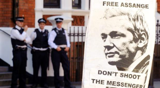 Accusations: Julian Assange could be innocent, but the comments of George Galloway have proven to be a diversionary device