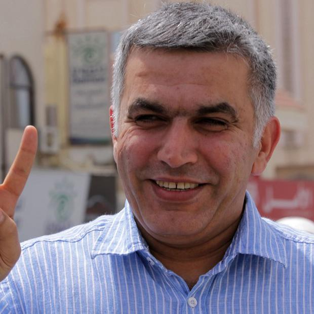 Nabeel Rajab remains jailed while he appeals a three-year sentence over his role in Bahrain protest rallies (AP)