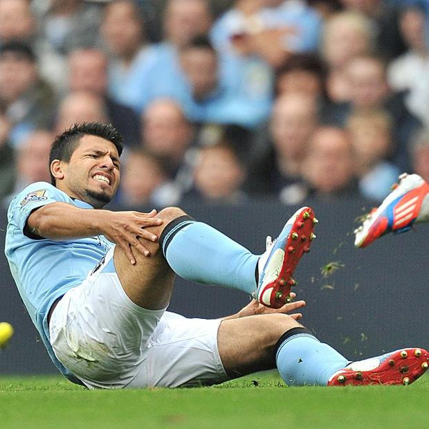 Sergio Aguero's injury is not as bad as first feared