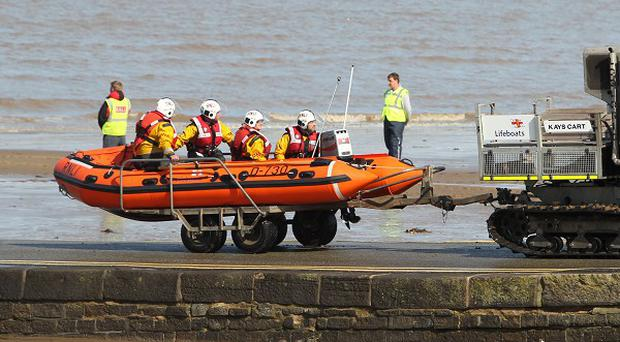 A search and rescue operation was launched after Dylan Cecil slipped into the water at Burnham-on-Sea