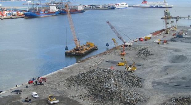 More than 50 years after being reclaimed from the sea, this site at Belfast harbour finally has tenants