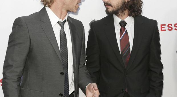 Guy Pearce and Shia LaBeouf attend the premiere of Lawless in LA
