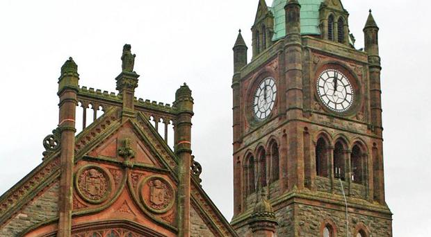 The Guildhall in Derry was constructed in 1890