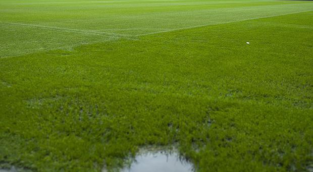 The match at the Stadium of Light was called off due to a waterlogged pitch