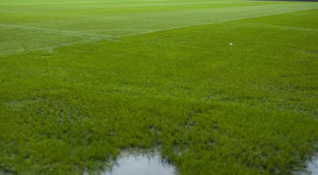 The Stadium of Light's surface was deemed unplayable due to heavy rain