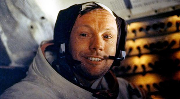 FILE - This July 20, 1969 file photo provided by NASA shows Neil Armstrong. The family of Neil Armstrong, the first man to walk on the moon, says he died Saturday, Aug. 25, 2012, at age 82. A statement from the family says he died following complications resulting from cardiovascular procedures