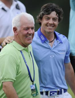 Rory with his father Gerry