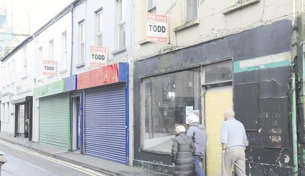 Help: derelict village shops in Northern Ireland, but in Britain High Street guru Mary Portas is offering hope to small retailers