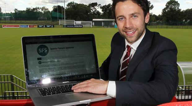 Co-founder and co-owner Michael Purcell of Sports Fixture Systems
