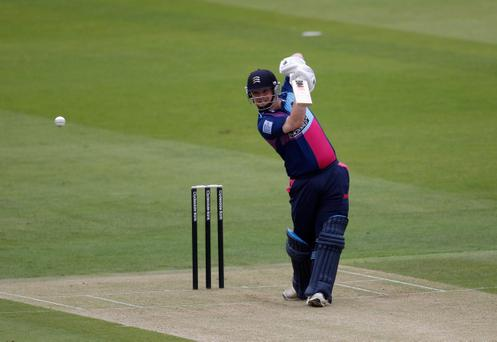 Paul Stirling on his way to 29 of 30 balls