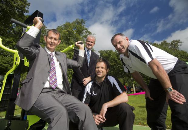New outdoor gym which was launched in Lisburn