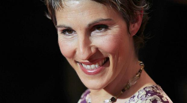 Tamsin Greig plays board games with her co-stars