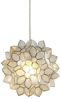 <b>1. Capiz Daisy Ceiling Light</b> £75, Marks & Spencer. Your living-room will blossom to life with this flowery creation made from natural shells. 0845 609 0200, marksandspencer.com