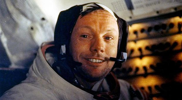 Lunar pioneers have attended a private service in Ohio for astronaut Neil Armstrong (AP Photo/NASA)