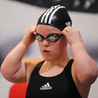 Ellie Simmonds took gold in the in the 400m freestyle race