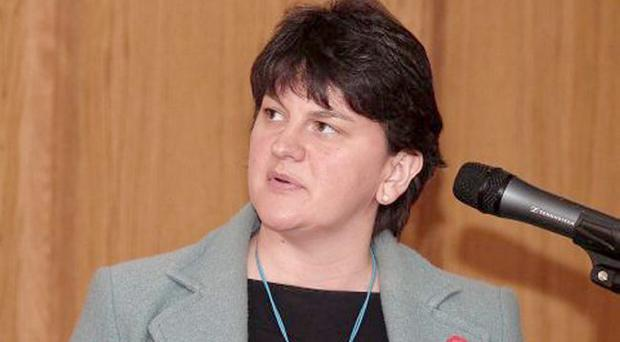 Arlene Foster said the claimant count has decreased for three consecutive months for the first time since August 2007