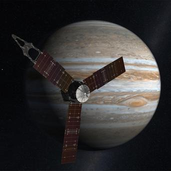 Juno is on a mission to peer through Jupiter's cloud cover and map its magnetic and gravity fields