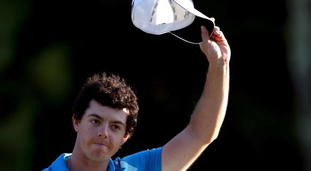 NORTON, MA - SEPTEMBER 03: Rory McIlroy of Northern Ireland reacts after winning the Deutsche Bank Championship at TPC Boston on September 3, 2012 in Norton, Massachusetts. (Photo by Warren Little/Getty Images)