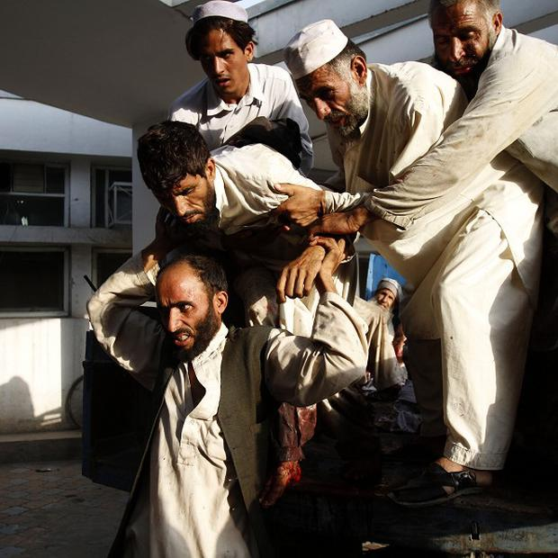 Victims of an Afghan suicide attack (AP)