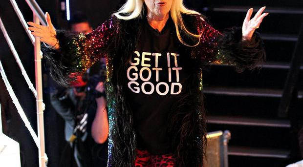 Julie Goodyear leaves the Celebrity Big Brother House at Elstree Studios