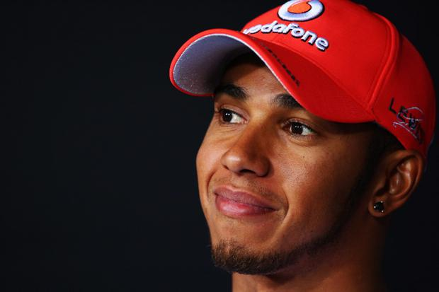 MONZA, ITALY - SEPTEMBER 06: Lewis Hamilton of Great Britain and McLaren attends the drivers press conference during previews to the Italian Formula One Grand Prix at the Autodromo Nazionale di Monza on September 6, 2012 in Monza, Italy. (Photo by Clive Mason/Getty Images)