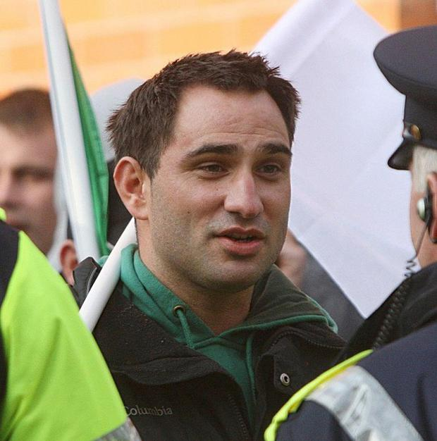 Alan Ryan pictured during a protest outside Dublin Castle in May 2011