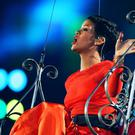 LONDON, ENGLAND - SEPTEMBER 09: Singer Rihanna performs during the closing ceremony on day 11 of the London 2012 Paralympic Games at Olympic Stadium on September 9, 2012 in London, England. (Photo by Peter Macdiarmid/Getty Images)